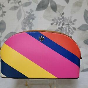 Tory Burch Multi Stripe Cosmetic Bag NWT $98