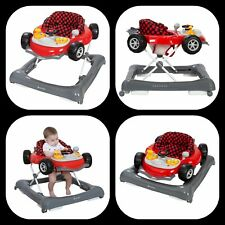 Baby Walker Travel Walking Activity Toddler Adjustable Height Foldable Toy Wheel