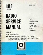 1980 RADIO SERVICE MANUAL CHEVROLET BUICK PONTIAC OLDSMOBILE GMC SCHEMA