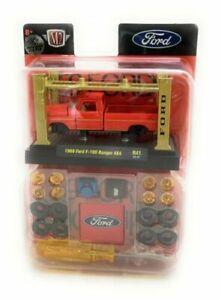 New M2 Machines 37000 R41 Model Kit, 1969 Ford F-100 Ranger 4x4 (Orange) chase
