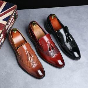 Mens Tassel Slip On Loafers Casual flats Formal Oxfords low heel new dress shoes
