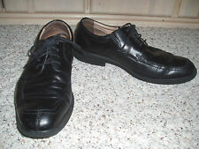 VINTAGE Men's FLORSHEIM Genuine Leather Oxford Shoes~Black~Size 9 D