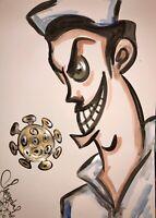 Margarita Bonke Malerei PAINTING art Bild Arzt Virus Doctor Doktor Klinik Praxi