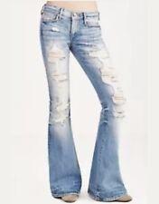 True Religion Karlie Destroyed Flare Jeans 28