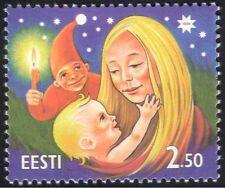 Estonia 1996 Navidad Saludos// madre/niño/elf/animación 1 V (ee1019)