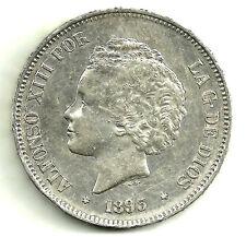 ALFONSO XIII. 5 PESETAS DE 1893(*18-93) MADRID PG-L (EBC-)