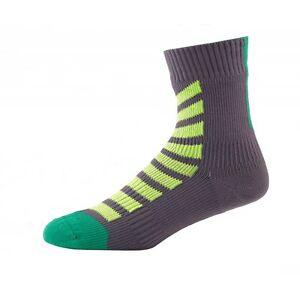 SealSkinz MTB Ankle Hydrostop - Waterproof Socks - Anth / Lime / Leaf