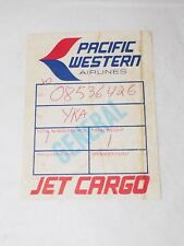 Vintage PACIFIC WESTERN AIRLINES JET CARGO sticker