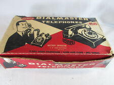 Vintage 1950's Remco Dialmaster play rotary dial telephone set