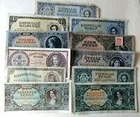 UNGARN Hungary Inflation - 11 div. Geldscheine 500 bis 1 Milliarde PENGO 1945+46