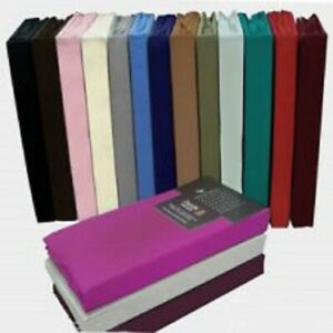 Luxury Percale Fitted Sheet Non Iron Polycotton Fitted Bed Sheet Elastic corner