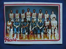 1980-81 Topps Team Pin-Ups Indiana Pacers #7 team photo basketball NBA