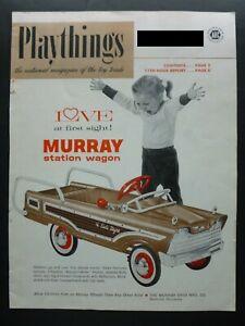 RARE Vtg 1963 DEALER cover Ad - Murray Dude Station Wagon Pedal Car 1960's