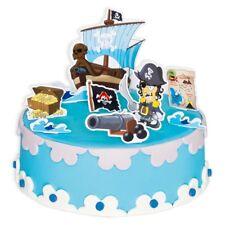 Torten-Dekoset PIRAT, 9-teilig für Geburtstags-Kuchen, Kindergeburtstag Junge