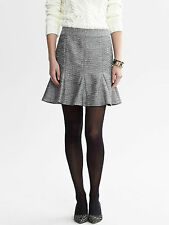 Banana Republic Women's Metallic Silver Pleated Skirt Size 14 Knee Length