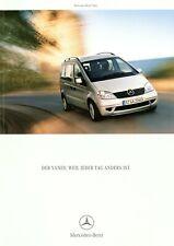 Mercedes Vaneo Prospekt 2004 1/04 D brochure prospectus brochure broschyr Auto