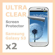 2 x Crisp Clear LCD Screen Protector Film for Samsung Galaxy S3 SIII S 3 i9300