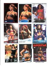 Alicia Fox Wrestling Lot of 9 Different Trading Cards 1 Insert WWE TNA AF-B1