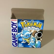 Pokemon Blue  - box only - GB - thick cardboard. Pal, NTSC.