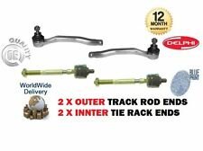 FOR HONDA CRX 1.6 VTEC 1992-1998  2X OUTER + 2X INNER STEERING TRACK TIE ROD END