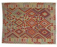 7'8 x 5'8 Handmade Afghan Kilim Area Rug Wool Oriental Kelim Carpet Teppich 9118