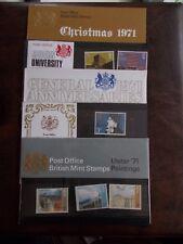 1971 Commemorative Presentation Packs Complete (5 Packs P.O. Nos 32A-35)