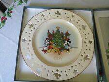 Disney Lenox Christmas Serving Dish Annual Plate 1997 Mickey & Co.