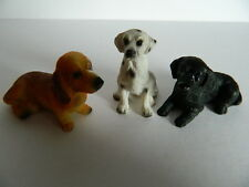 (G6.22) DOLLS HOUSE SET OF THREE ASSORTED RESIN DOGS