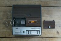 VINTAGE 1976 Saba cr325 Portable Cassette Recorder with Reporter's Mic - WORKING