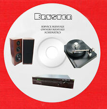 Bryston Audio Repair Service owner manuals on 1 dvd in pdf format