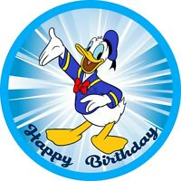 Donald Duck 7 Inch Edible Image Cake & Cupcake Toppers/ Party Birthday