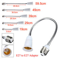E27 DOUILLE DE AMPOULE ADAPTATEUR EXTENSION SUPPORT DE LAMPE BLANCHE 5695852