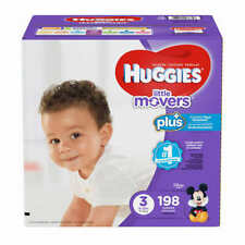 Huggies Plus Diapers Size 3: 16-28lbs, 198ct - Free Shipping - New!