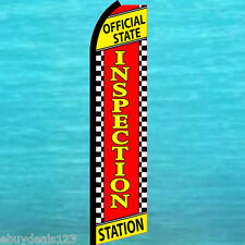 Official State Inspection Station Flutter Feather Flag Swooper Tall Banner Sign
