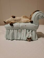 Luxury Cat Lounging On Sofa Chair By Lauren Marems