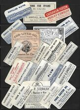 Quantity Of Old Chemist Labels - Poison - Pharmacy Apothecary - 19/20Th Century.