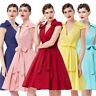 60s 50s Housewife Retro Swing Pinup V Neck EVENING Party Cocktail Holiday Dress