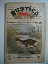 RUSTICA n°49 9 décembre 1934 La chasse du râle d'eau gibier de saison