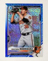 2021 Bowman Prospects Chrome Blue Shimmer #BCP-118 Grayson Rodriguez /150