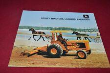 John Deere Utility Tractors Loader & Backhoes Dealer's Brochure RPMD