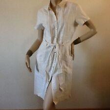 Linen Short Sleeve Shirt Dresses Midi