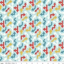 Cruiser Blvd Fabric - Blue Arrows - Riley Blake Fabric - Half yard - Fabrics4u2