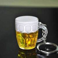 Mini Cute Cup Key Ring Keychain Resin Beer Car Keychain Beer Glass Pendant Decor