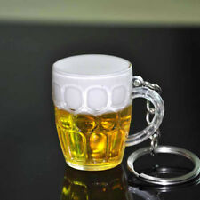 1PC Mini Lovely Cup Key Ring Resin Beer Car Keychain Beer Glass Pendant Gift