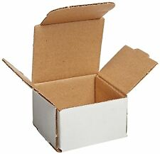 50 3x3x2 Small White Corrugated Cardboard Packaging Shipping Mailing Box Boxes