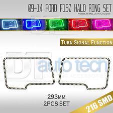09-14 F-150 Bluetooth Angel Eyes LED RGB Headlight Halo Ring+Turn Signal Set