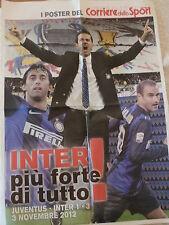 INTERNAZIONALE F.C. POSTER JUVE - INTER 1-3 CALCIO MILITO PALACIO STRAMACCIONI