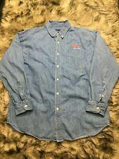 Vintage Planet Hollywood New York 1991 Denim Button Up Shirt Size XLarge XL