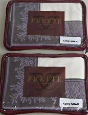 Neuf Frette Desiderata Happiness Taie Set 2 King Faux Taie Ivoire Violet