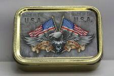 Eagle & Flag, American, Motorcycle, USA Cigarette Tobacco Storage 2oz Tin